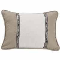 Augusta Oblong Matelasse Khaki Accent Pillow