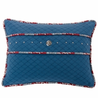 Bandera Blue Accent Pillow With Concho And Stud Trim