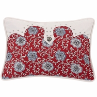 Bandera Oblong Floral Pillow With Concho