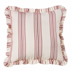 Bandera Red Striped Euro Sham With Ruffle