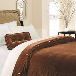 Bianca Copper Velvet Duvet Cover