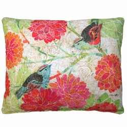 Birds On A Limb Outdoor Throw Pillow