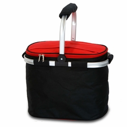 Black & Red Insulated Market Tote