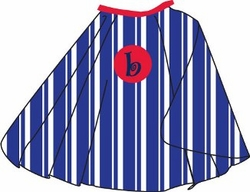 Blue and White Strip Kid's Personalized Cape