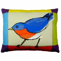 Bluebird Outdoor Pillow