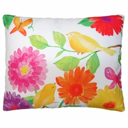 Bold Flowers Outdoor Pillow