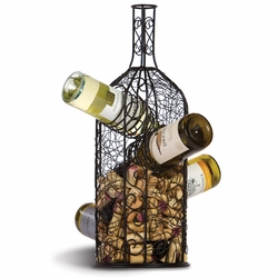 Bouchon Cork Caddy And Wine Rack