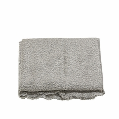 Boucle Throw in Light Grey