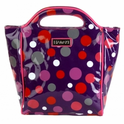 Bouncing Ball Berry Insulated Lunch Tote