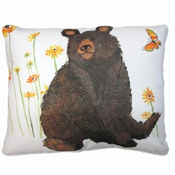 Brown Bear Outdoor Pillow