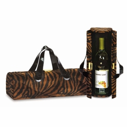 Brown Tiger Carlotta Clutch Wine Bottle Tote