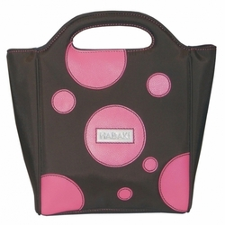Bubbles Pink Insulated Lunch Tote by Hadaki