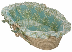 Burst Seagrass Baby Moses Basket