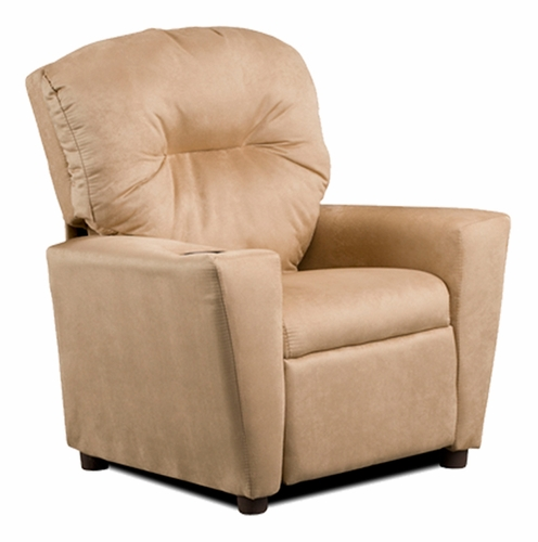 Camel Suede Kids Recliner Chair