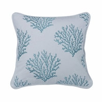 Catalina Aqua Coral Pillow