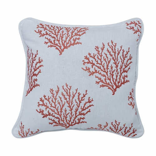 Catalina Salmon Coral Accent Pillow Hiend Accents Beach