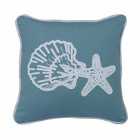 Catalina Star And Shell Pillow