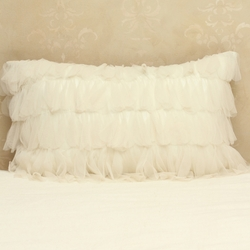 Chichi Ivory Petal with Natural Jute Decorative Pillow