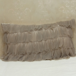 Chichi Sable Petal with Ivory Jute Decorative Pillow