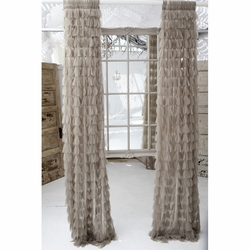 Chichi Sable Solid Petal Window Curtain
