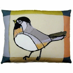 Chickadee Outdoor Pillow