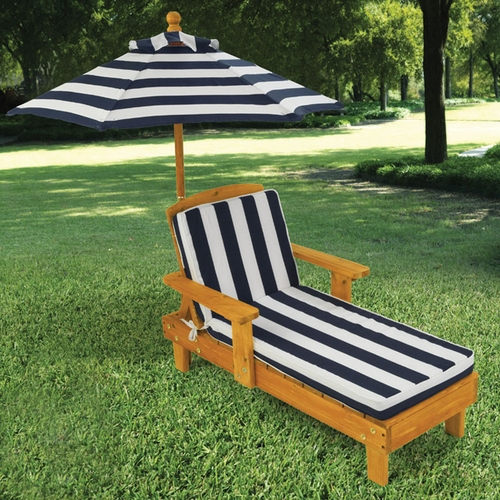 Kids Outdoor Chaise with Umbrella - Option to Personalize : kids chaise - Sectionals, Sofas & Couches