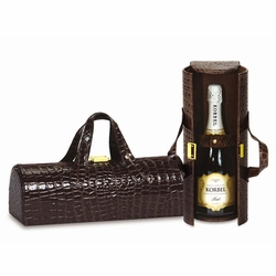 Chocolate Croc Carlotta Clutch Wine Bottle Tote