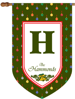 Christmas Ornament Polkadots Monogrammed House Flag