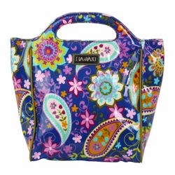 Cobalt Paisley Insulated Lunch Tote by Hadaki