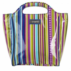Cobalt Stripes Insulated Lunch Tote by Hadaki