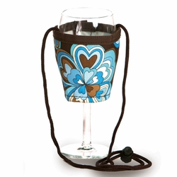 Cocoa Cosmos Wine Glass Lanyard