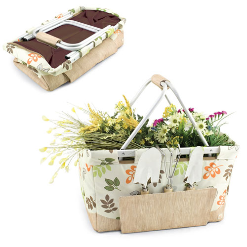 Collapsible Gardening Basket with 3 Piece Tool Set Market Baskets