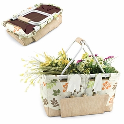Collapsible Gardening Basket with 3 Piece Tool Set