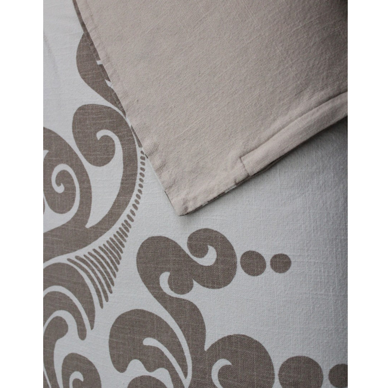 couture dreams  enchantique ivory and sable duvet