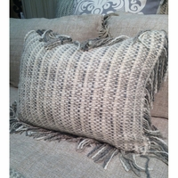 Cozi Woven Decorative Pillow with Fringe