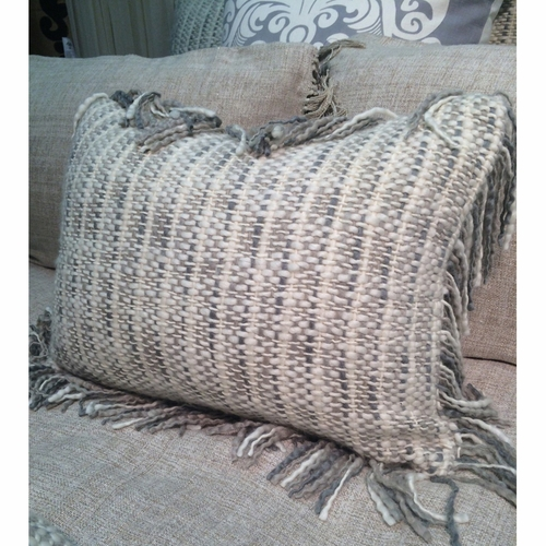 Cozi Woven Decorative Pillow With Fringe Couture Dreams Interesting Decorative Pillows With Fringe