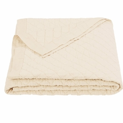 Cream Diamond Linen Quilt