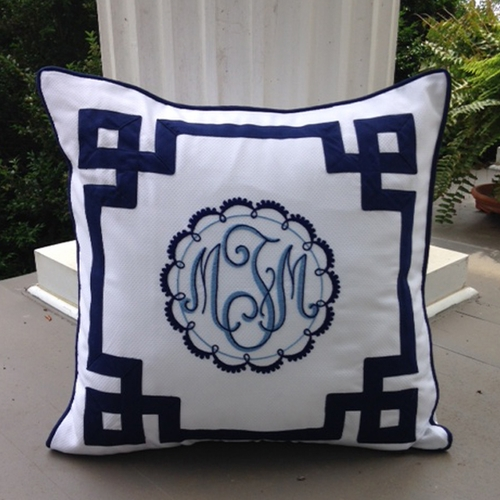 Custom Euro Sham by Jane Wilner Designs