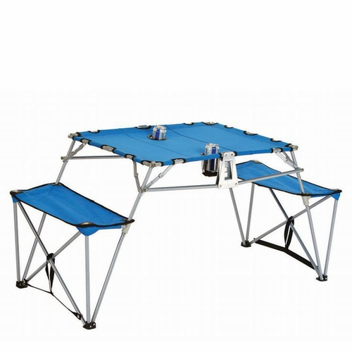 dalby portable picnic table  folding  canvas  camping table  table in a bag