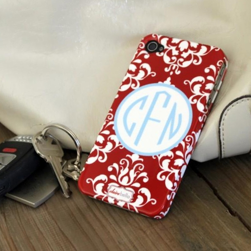 Damask Monogrammed Phone Case By Clairebella