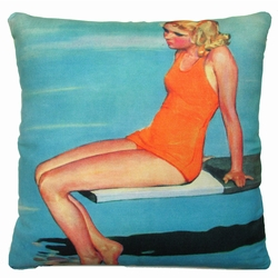 Diving Board Outdoor Pillow