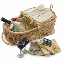 Eco Wine And Cheese Basket