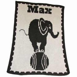 Elephant On A Ball Baby Blanket
