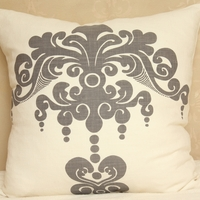 Enchantique Dark Grey Decorative Pillow Without Fringe