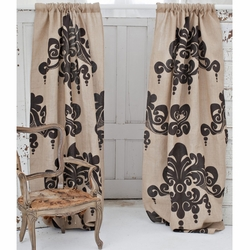 Enchantique Natural Jute Window Curtain