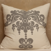 Enchantique Platinum Decorative Pillow Without Fringe