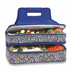 English Paisley Entertainer Insulated Food and Casserole Carrier