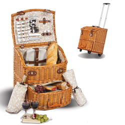 Exeter Picnic Basket For 4 On Wheels