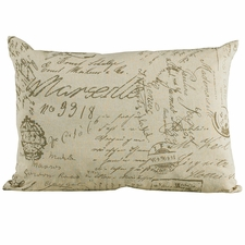 Fairfield Linen Script Accent Pillow