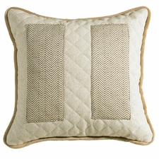 Fairfiled Quilted Linen Accent Pillow